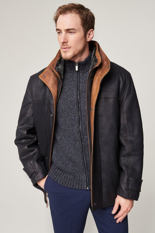 Jack Frost Leather Coat with Shearling Lining - Big (48 - 52)