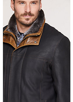 Jack Frost Leather Coat with Shearling Lining - Big (54 - 56)