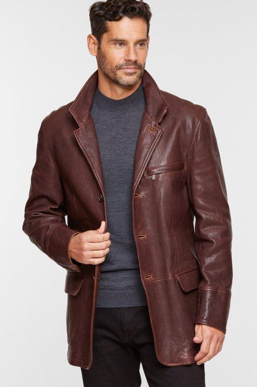 Montreaux Moroccan Lambskin Leather Blazer