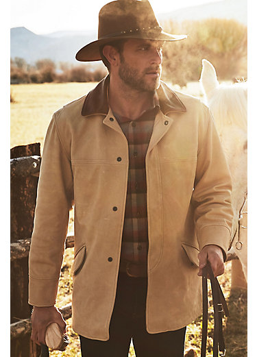 Country Gentleman Calfskin Leather Coat