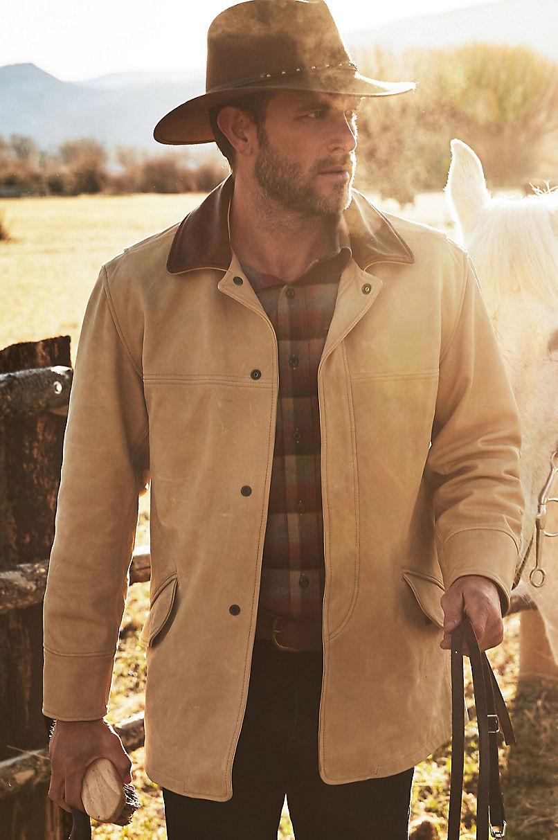 Country Gentleman Calfskin Leather Coat
