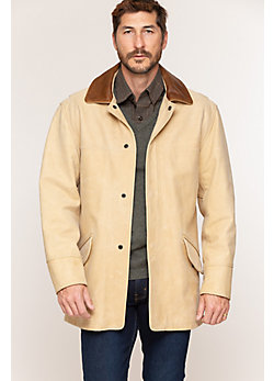 Country Gentleman Calfskin Leather Coat - Big (48 - 52)