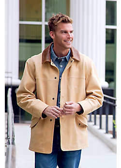 Country Gentleman Calfskin Leather Coat (Big/Tall)