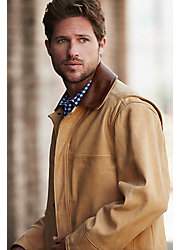 Country Gentleman Calfskin Leather Coat - Big (54 - 56)