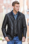 Montreaux II Lambskin Leather Blazer