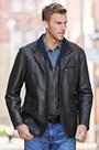 Montreaux II Lambskin Leather Blazer