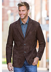 Wendell Lambskin Suede Leather Blazer