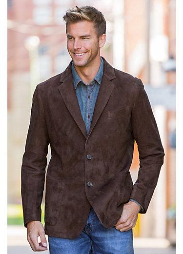 Wendell Lambskin Suede Leather Blazer