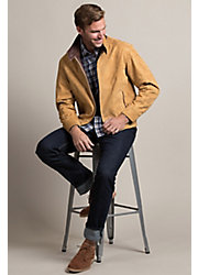 San Diego Lambskin Suede Leather Bomber Jacket