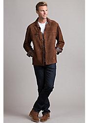 Newport Lambskin Suede Leather Shirt Jacket