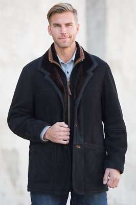 Overland Highlands Black Shearling Sheepskin Coat