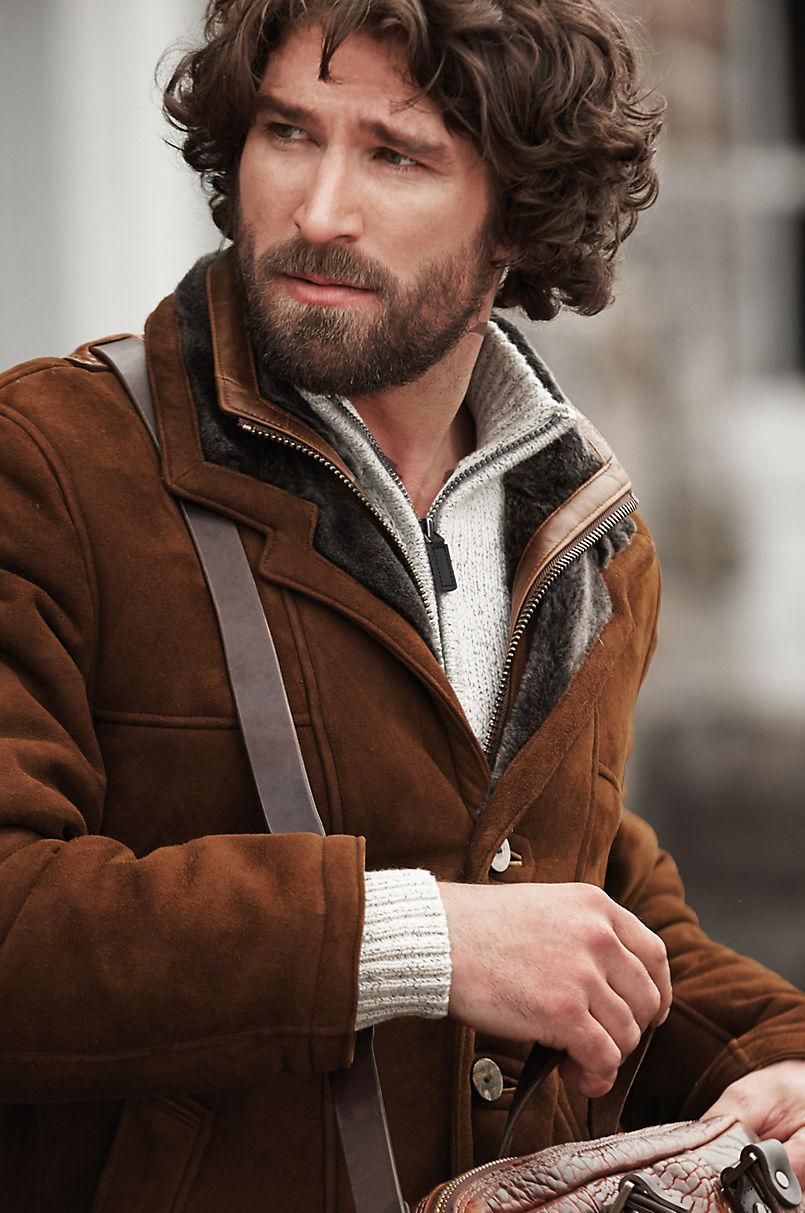 Highlands II Cappuccino Shearling Sheepskin Coat