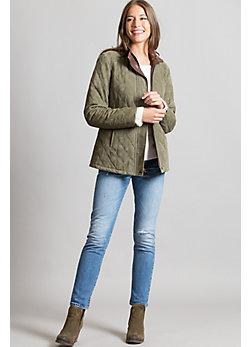 Anastasia Lambskin Suede Leather Jacket