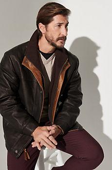 Romano Lambskin Leather Jacket - Big (48 - 52)