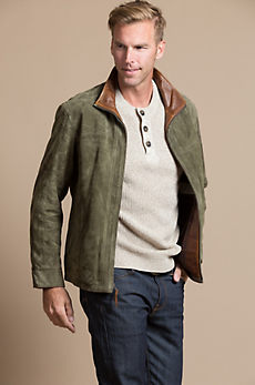 Barcelona Lambskin Suede Leather Jacket