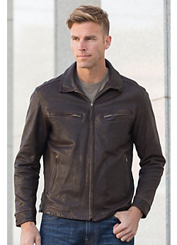 Windbreaker Moroccan Lambskin Leather Jacket