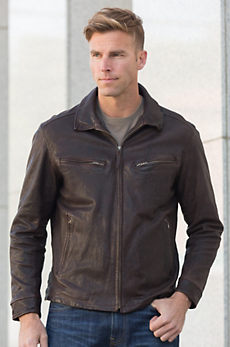 Windbreaker Moroccan Lambskin Leather Jacket