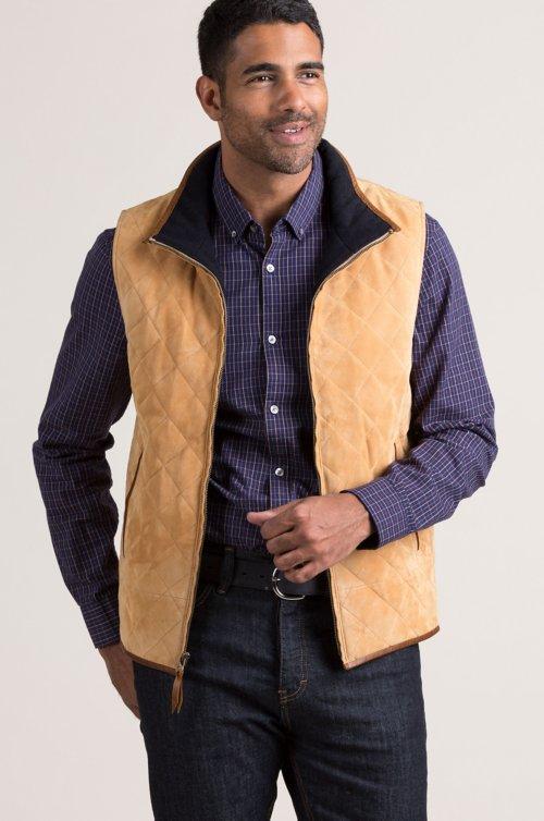 Courchevel Lambskin Suede Leather Vest
