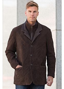 Dublin Calfskin Suede Leather Coat