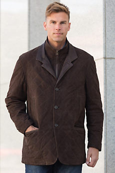 Dublin Calfskin Suede Leather Blazer