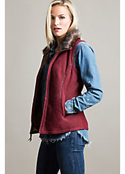 Moon Dance Shearling Sheepskin Vest with Toscana Trim