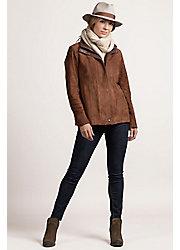 Bella Italian Metisse Lambskin Suede Leather Jacket