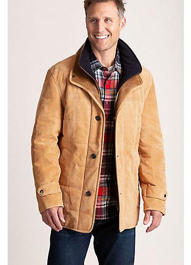 Napoli II Quilted Lambskin Leather Barn Jacket