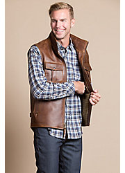 Hemingway Antique Waxed Calfskin Leather Field Vest