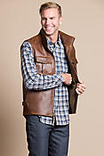 Hemingway Antique Waxed Calfskin Leather Field Vest