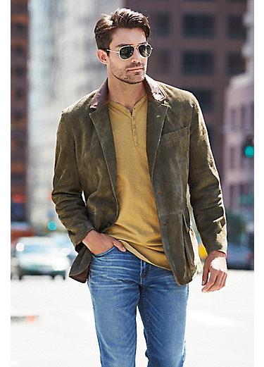 Georgetown Italian Metisse Lambskin Suede Leather Blazer