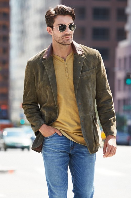 Georgetown Italian Matisse Lambskin Suede Leather Blazer