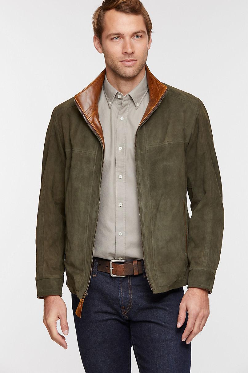 Barcelona Lambskin Suede Leather Jacket