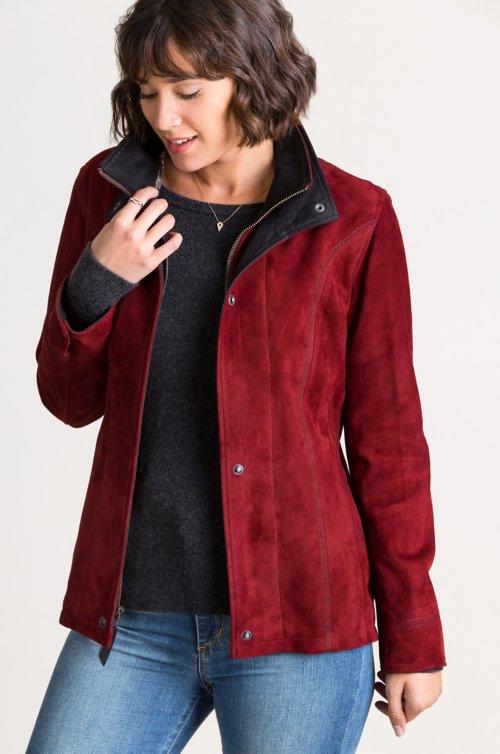 Bella Italian Lambskin Suede Jacket