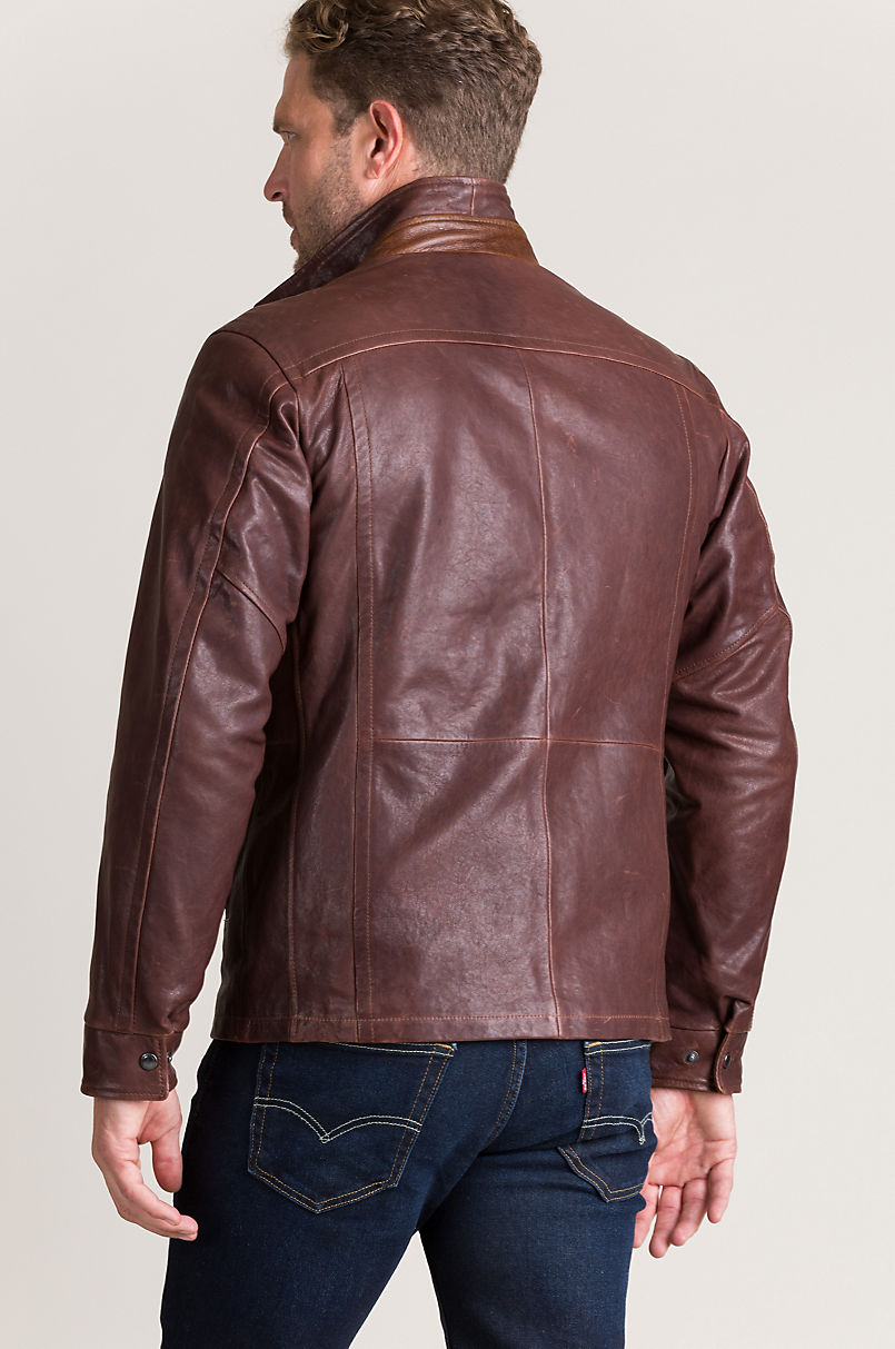 Conor Lambskin Leather Jacket