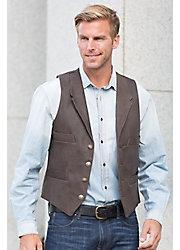 Travis 4-Pocket Cowhide Leather Vest - Tall (42L - 48L)