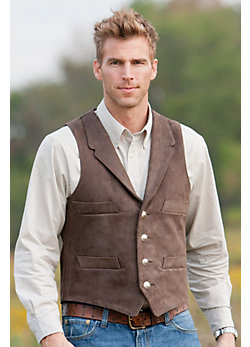 Travis 4-Pocket Cowhide Leather Vest