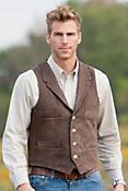 Travis 4-Pocket Cowhide Leather Vest