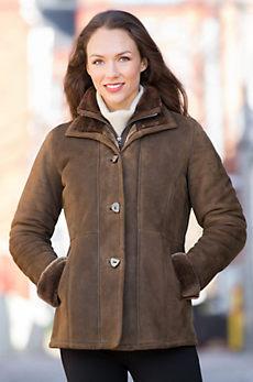 Forest Vienna Shearling Sheepskin Coat