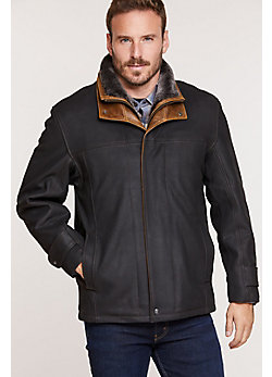 Jack Frost Leather Coat with Shearling Lining (Big & Tall)