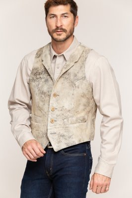 Shelton Lambskin Suede Leather Vest