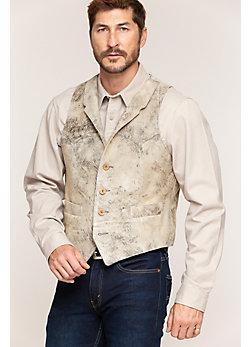 Shelton Lambskin Suede Leather Vest