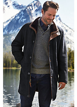 McKinley Black Shearling Sheepskin Coat