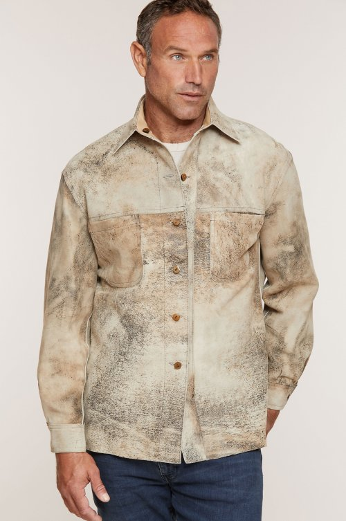 Chase Reversible Lambskin Leather Shirt Jacket - Big (50 - 54)