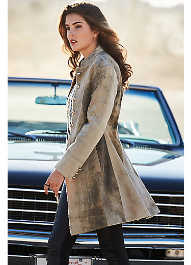 Zena Frock New Zealand Lambskin Leather Coat