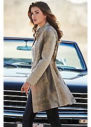 Zena Frock New Zealand Lambskin Leather Coat