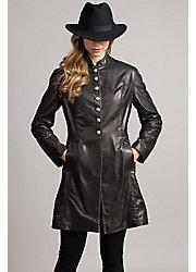 Zena Frock Italian Lambskin Leather Coat