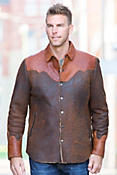Jacoby Distressed Shearling Sheepskin Shirt Jacket