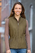 Diana Anorak Lambskin Leather Vest