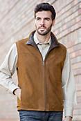 Darden Lambskin Leather Vest