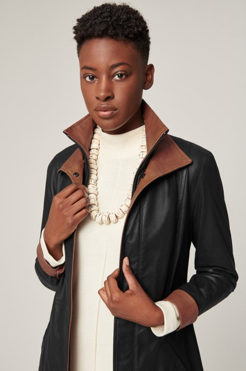 Rory Lite English Lambskin Leather Jacket